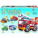 Educa-14866 5 Puzzles Baby - Les véhicules