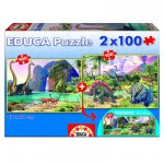 Educa-15620 2 Puzzles - Dino World