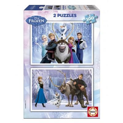 Educa-15767 2 Puzzles - La Reine des Neiges