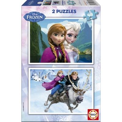 Educa-15768 2 Puzzles - La Reine des Neiges