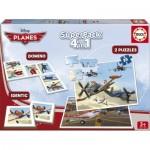 Educa-15780 2 Puzzles + Domino + Identic - Planes