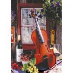 Educa-15790 Alberto Rossini - Violin and Still Life with Grapes