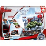 Educa-16692 Superpack 4 in 1 - Marvel Avengers