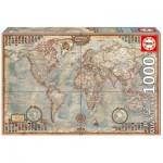 Educa-16764 Pièces Mini - Vieille Carte du Monde