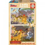 Educa-16795 2 Puzzles en Bois - The Lion Guard