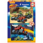 Educa-16822 2 Puzzles - Blaze and The Monster Machines