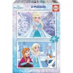 Educa-16847 2 Puzzles - La Reine des Neiges