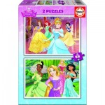 Educa-16851 2 Puzzles - Disney Princess
