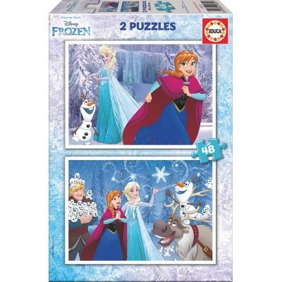Educa-16852 2 Puzzles - La Reine des Neiges