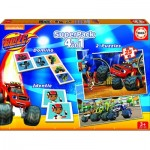 Educa-16853 Superpack 4 in 1 - Blaze and The Monster Machines