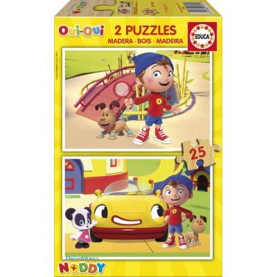 Educa-17161 2 Puzzles en Bois - Oui-Oui