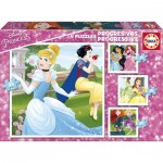 Educa-17166 4 Puzzles - Disney Princesses