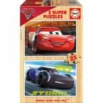 Educa-17173 2 Puzzles en Bois - Cars