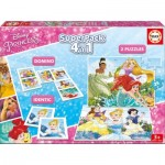 Educa-17198 Superpack 4 in 1 - Disney Princess