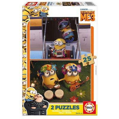Educa-17231 2 Puzzles en Bois - Minions