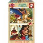 Educa-17237 2 Puzzles en Bois - Elena d'Avalor