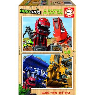 Educa-17270 2 Puzzles en Bois - Dreamworks - Dinotrux
