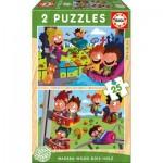 Educa-17620 2 Puzzles en Bois - Fête Foraine