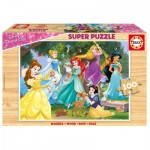 Educa-17628 Puzzle en Bois - Disney Princess