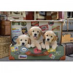 Educa-17645 Puppies in the Luggage
