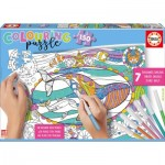 Educa-17827 Colouring Puzzles - Animaux Marins