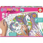 Educa-17828 Colouring Puzzles - Licorne
