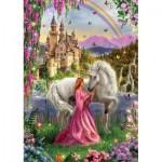 Educa-17985 Princesse et Licorne