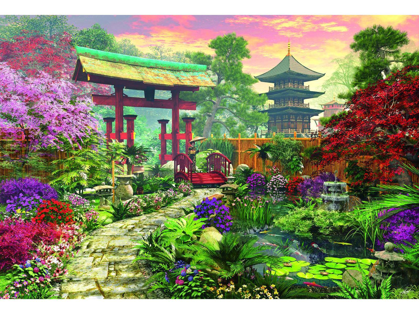 Dessin de jardin japonais for Jardin japonais dessin