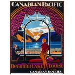 Eurographics-6000-0323 Canadian Pacific Rail Magnifique Lac Louise