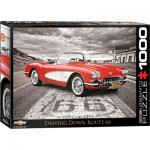 Eurographics-6000-0665 1959 Corvette Driving Down Route 66