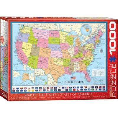 Eurographics-6000-0788 Carte des Etats-Unis