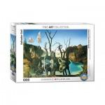 Eurographics-6000-0846 Salvador Dalí - Cygnes réfléchis en Eléphants