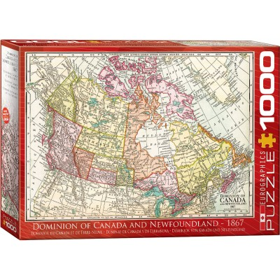 Eurographics-6000-5304 Antique Map - Dominion of Canada & Newfoundland