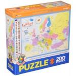 Eurographics-6200-5374 Carte de l'Europe (en anglais)