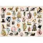 Eurographics-6500-0991 Pièces XXL - Familiy Puzzle: Yoga Kittens