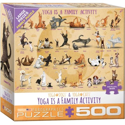 Eurographics-6500-5354 Pièces XXL - Yoga is A Family Activity
