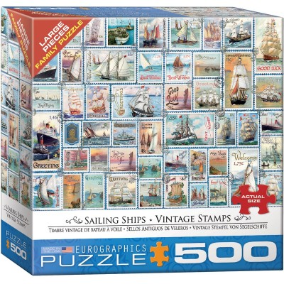 Eurographics-8500-5357 Pièces XXL - Sailing Ships - Vintage Stamps
