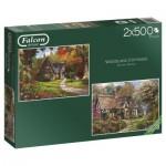 Jumbo-11167 2 Puzzles - Dominic Davison - Woodland Cottages