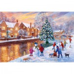 Gibsons-G3088 Terry Harrison: Bourton at Christmas