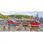 Gibsons-G4045 Roger Neil Turner - Seagulls at Staithes