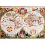 Gold-Puzzle-60096 Vieille Carte du Monde