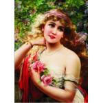Gold-Puzzle-60515 Emile Vernon : Jeune Femme à la Rose