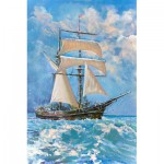 Gold-Puzzle-61475 Sailboat in the Ocean