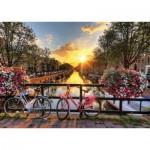 Gold-Puzzle-61543 Lever de Soleil à Amsterdam
