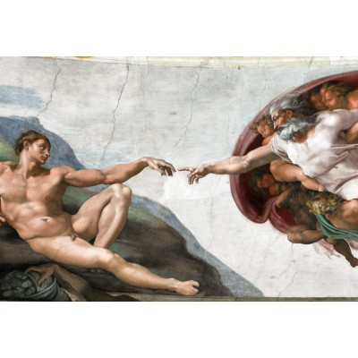 Grafika-Kids-00072 Pièces XXL - Michel Ange : La Création d'Adam de la chapelle Sixtine, 1508-1512