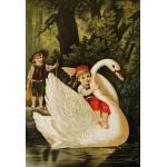 Grafika-Kids-00113 Pièces XXL - Hansel et Gretel, illustration par Carl Offterdinger