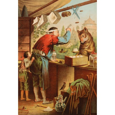 Grafika-Kids-00125 Pièces XXL - Carl Offterdinger : Le Loup et les sept Chevreaux