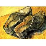 Grafika-Kids-00202 Pièces Magnétiques - Vincent Van Gogh : Une Paire de Sabots en Cuir, 1888