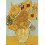 Grafika-Kids-00208 Pièces Magnétiques - Van Gogh Vincent : Vase avec douze tournesols, 1888