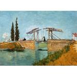 Grafika-Kids-00213 Pièces Magnétiques - Van Gogh Vincent : Pont de Langlois en Arles, 1888